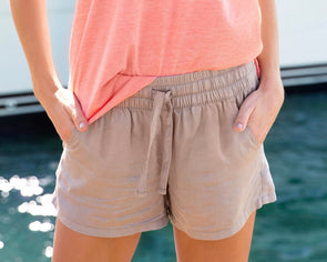 Southern Marsh Rachel Relaxed Shorts-Burnt Taupe