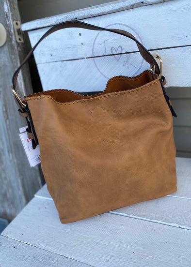 Monogrammed Alexa 2-in-1 Hobo Bag - Tan