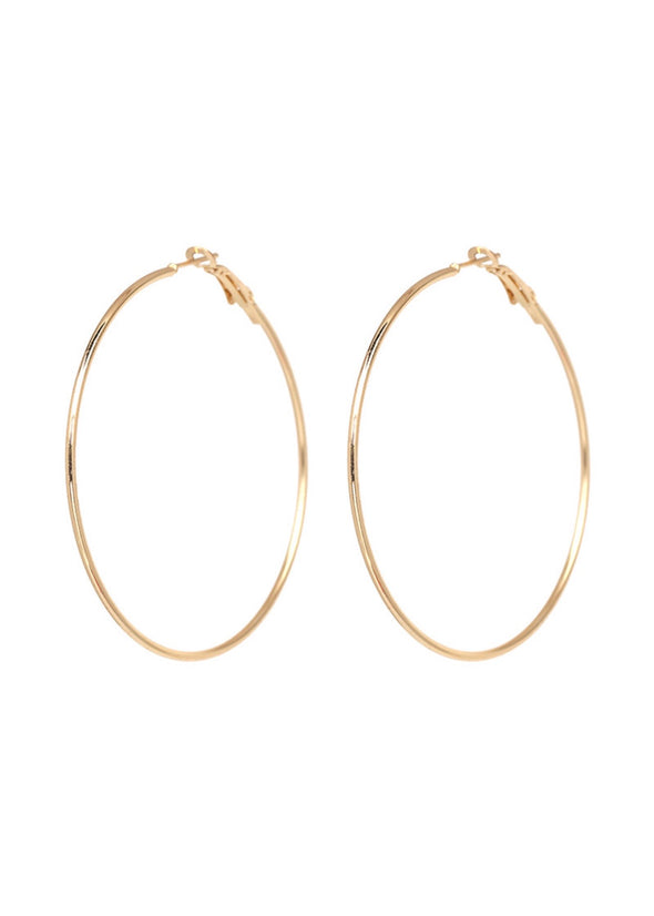 Large Hoop Earrings - Gold - Monograms By Kim Boutique & Gifts