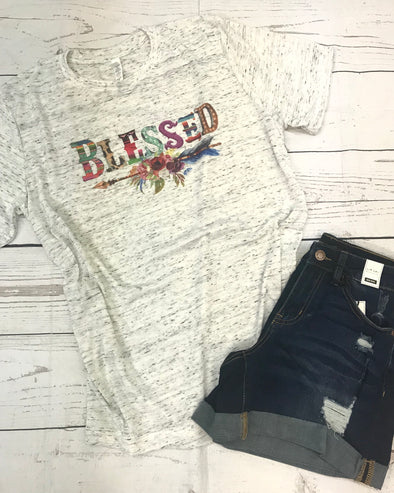 Blessed Graphic Tee - Monograms By Kim Boutique & Gifts