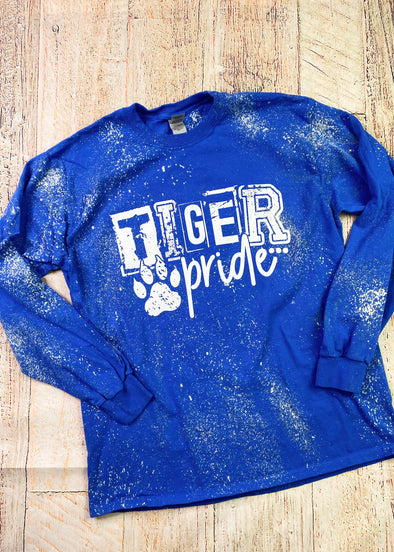 Tiger Pride Bleached Long Sleeve Tee
