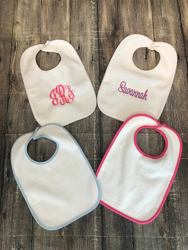 Monogrammed Baby Bib - Monograms By Kim Boutique & Gifts