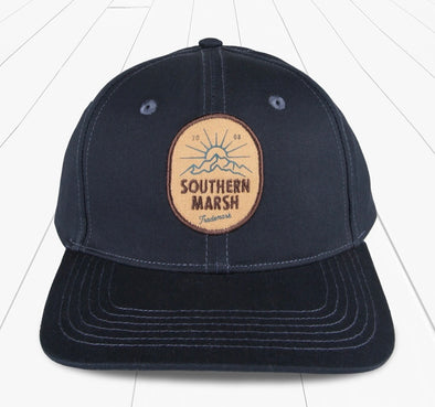Southern Marsh Trucker Hat - Mountain Rise - Navy