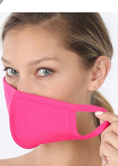Washable Adult Face  Mask - Hot Pink