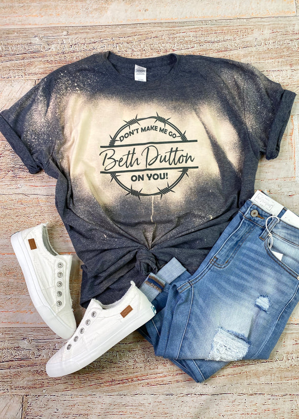 Beth Dutton Bleached Graphic Tee
