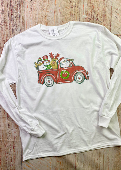 Christmas Truck Long Sleeve Tee - Black Friday Deal (Final Sale)