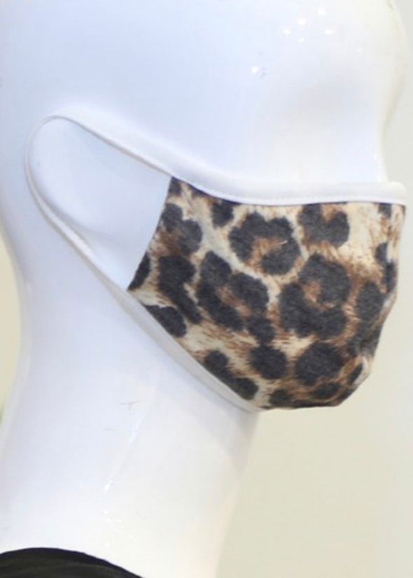 Youth Protective Face Mask - Brown Leopard