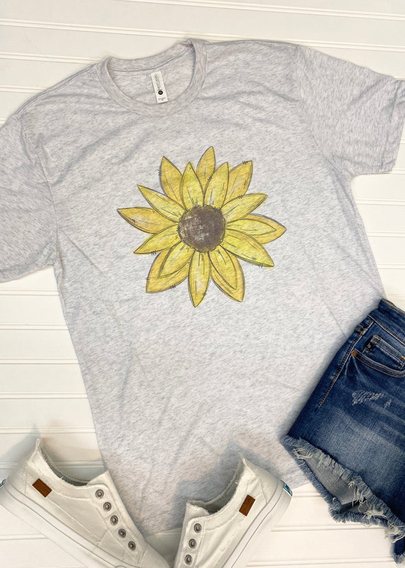 Sunflower Graphic Tee - Monograms By Kim Boutique & Gifts