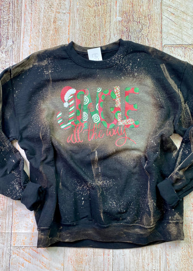 Jingle All The Way Bleached Sweatshirt