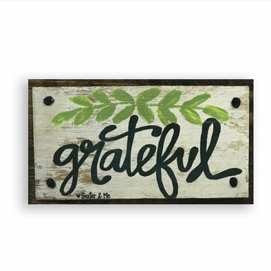 Grateful Happy Block - Monograms By Kim Boutique & Gifts