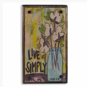 Live Simply Happy Block - Monograms By Kim Boutique & Gifts