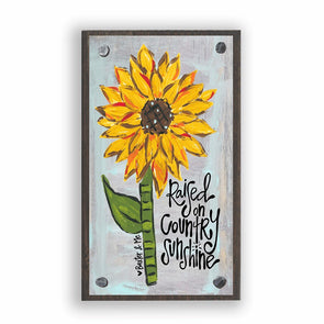 Raised on Country Sunshine Happy Block - Monograms By Kim Boutique & Gifts