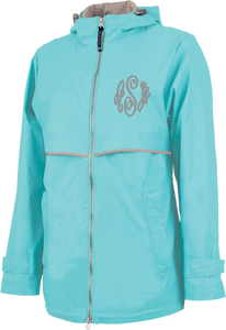 New Englander Rain Jacket--Aqua