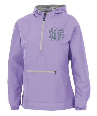 Lined Pullover Rain Jacket--Purple - Monograms By Kim Boutique & Gifts