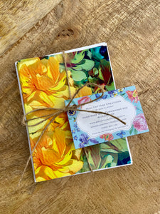 Bright and Vibrant Yellow Flower Note Cards - Pack of 4