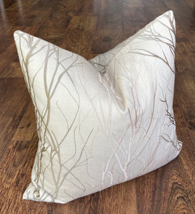 Large Cream Textured Cushion, 20""
