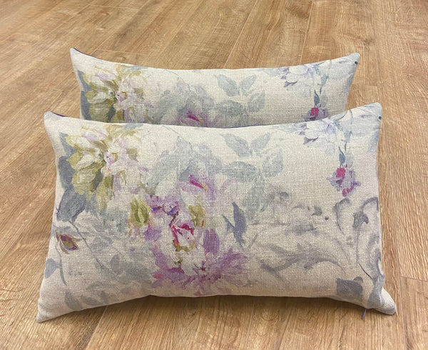 Set of Two Designers Guild Vintage Style Cushions - Gift Set.