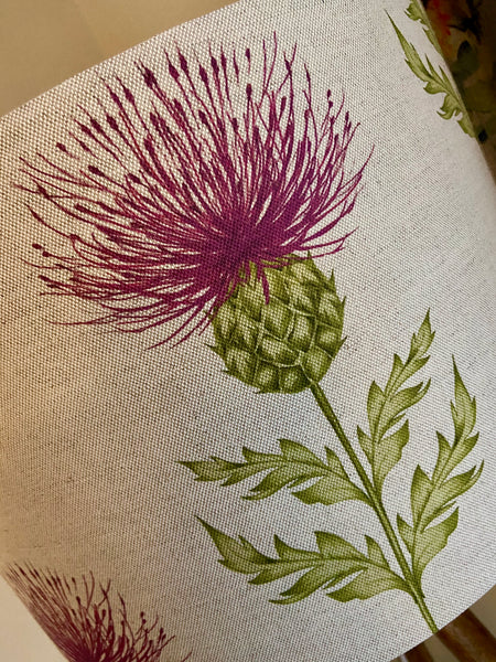 Pink Thistle Lampshade (40cm)