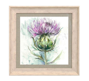 Framed Thistle Print Wall Art