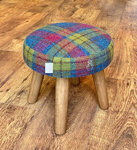 Limited Edition Tartan Harris Tweed Orb Stamped Mini Footstool