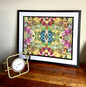 Large Mounted Colourful Framed Artwork- Designed by Sara