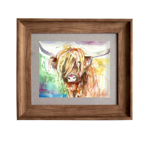 Framed Highland Cow Wall Art
