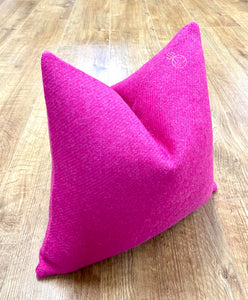 Limited Edition Orb Harris Tweed Small Cushion - Vibrant Pink