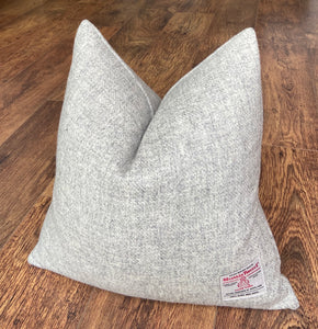 Light Grey Harris Tweed Cushion - 18""