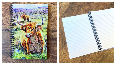 Highland Cow A5 Lined Notebook