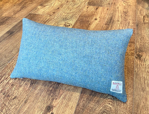 Harris Tweed Oblong Cushion - Light Blue