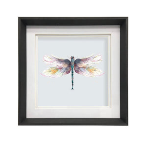 Framed and Mounted Dragonfly Wall Art - Large