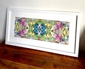 Framed and Mounted Colourful Artwork- Designed by Sara