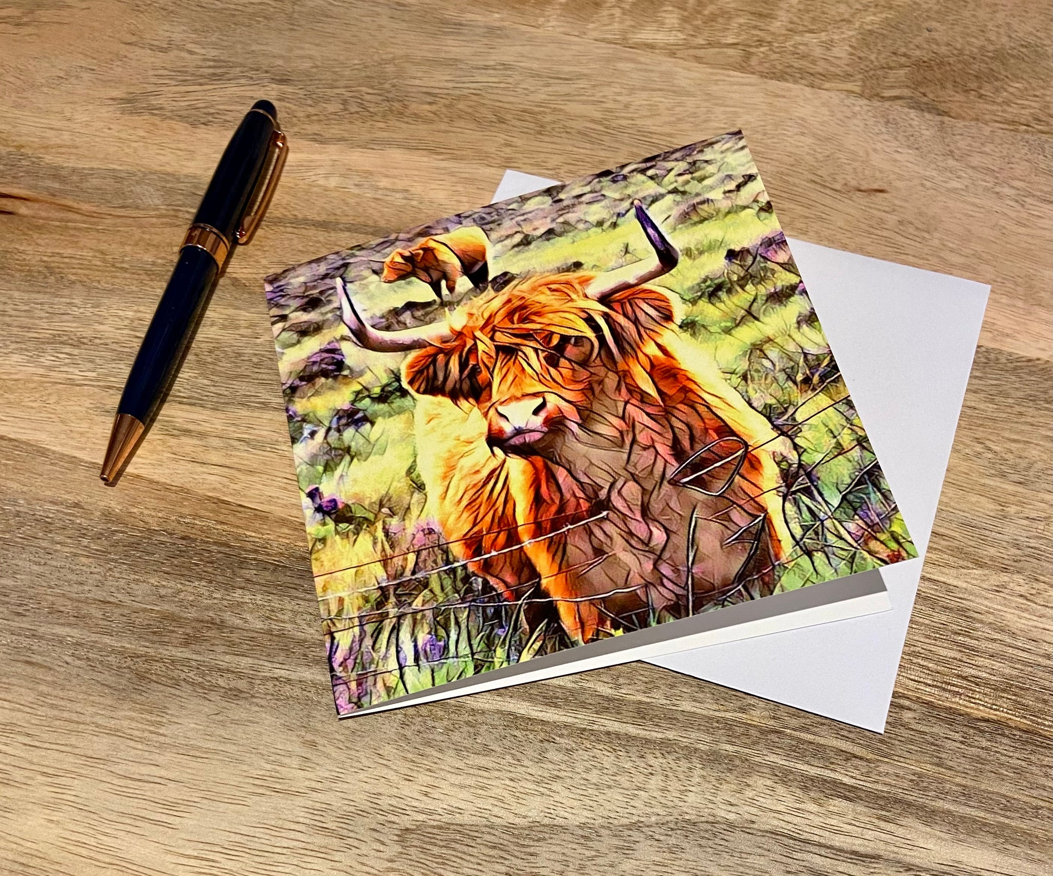 Highland Cow Note Cards - Pack of 4