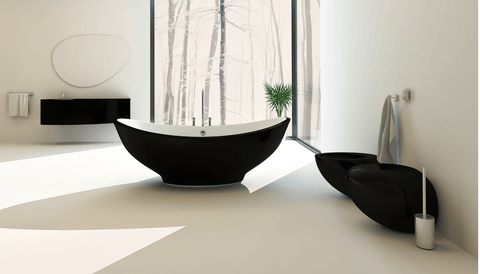 Why not kick things up a notch and make your bathroom space chic and exciting. You can do just that by adding a black toilet along with a black bidet to your master bathroom.
