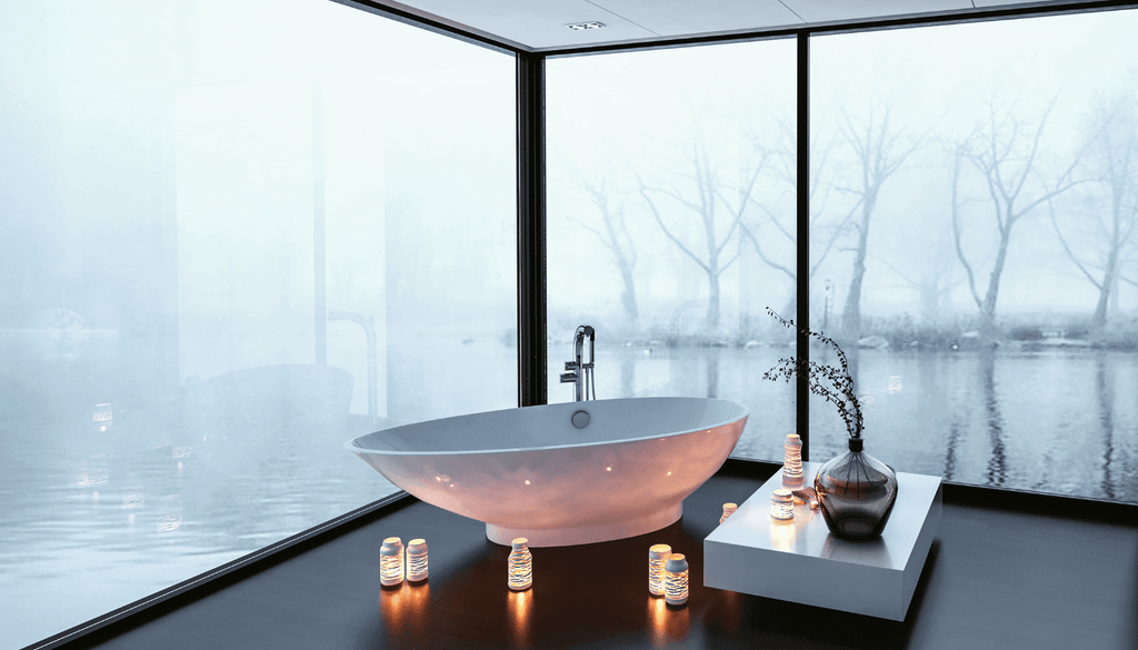 Candles create ambience and transform your bathroom