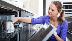 High-efficiency dishwashers can save a lot of water