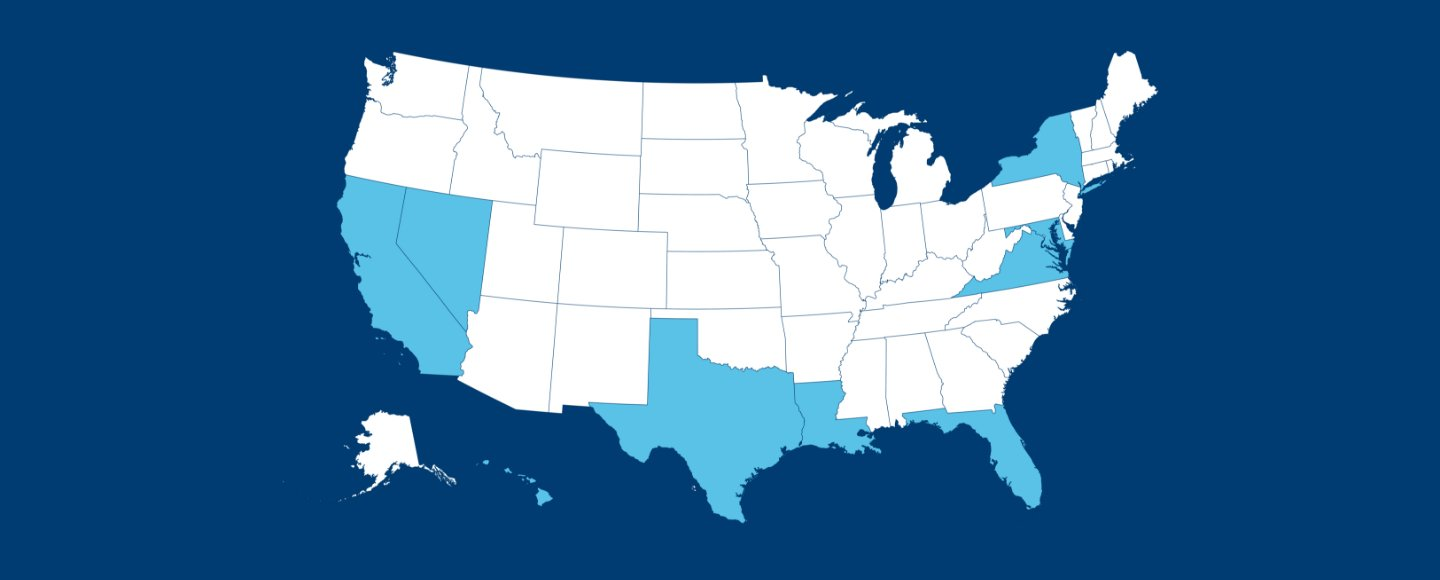 Overview of United States map showcasing Nasoni manufacturer and distributor locations