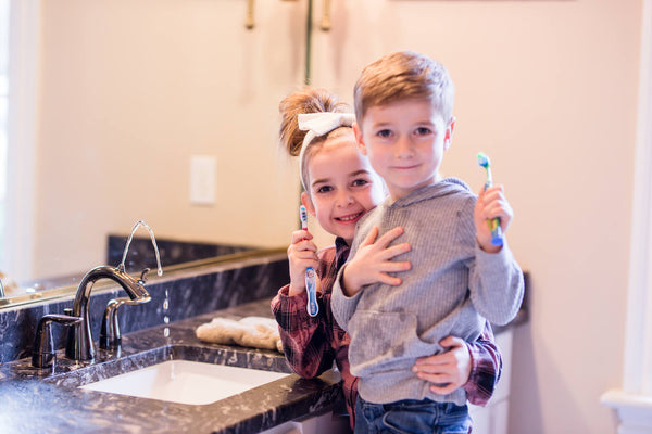 Kids love to brush with bathroom fountain faucets