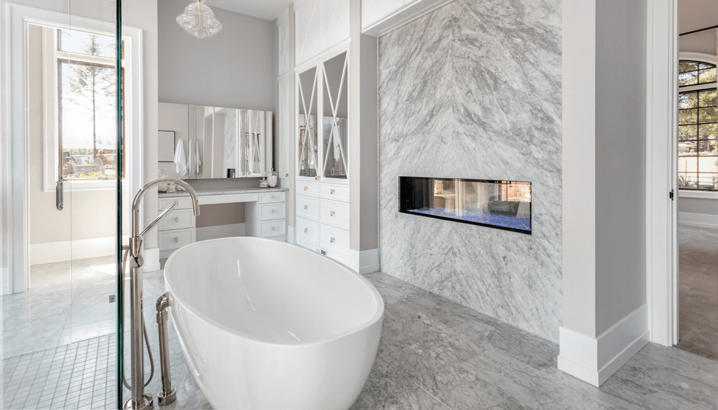 Getting Creative With the Fireplace Can Take Your Master Bathroom To the Next Level
