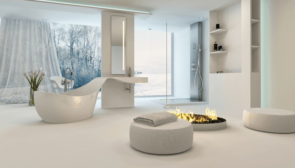 Fireplaces can Make a Master Bathroom Magical