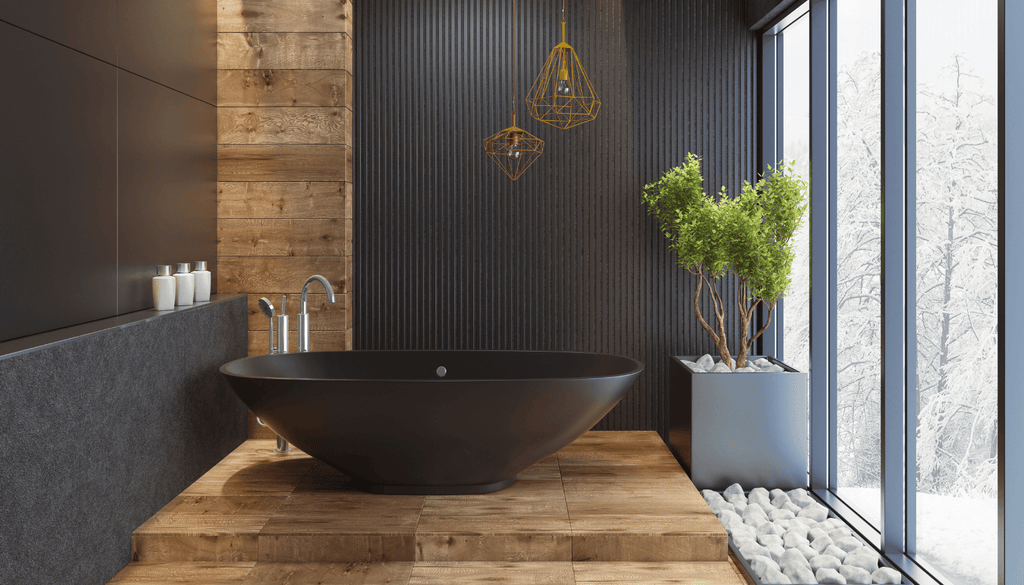A black bathtub can prove to be a show-stopping addition that will never disappoint you.