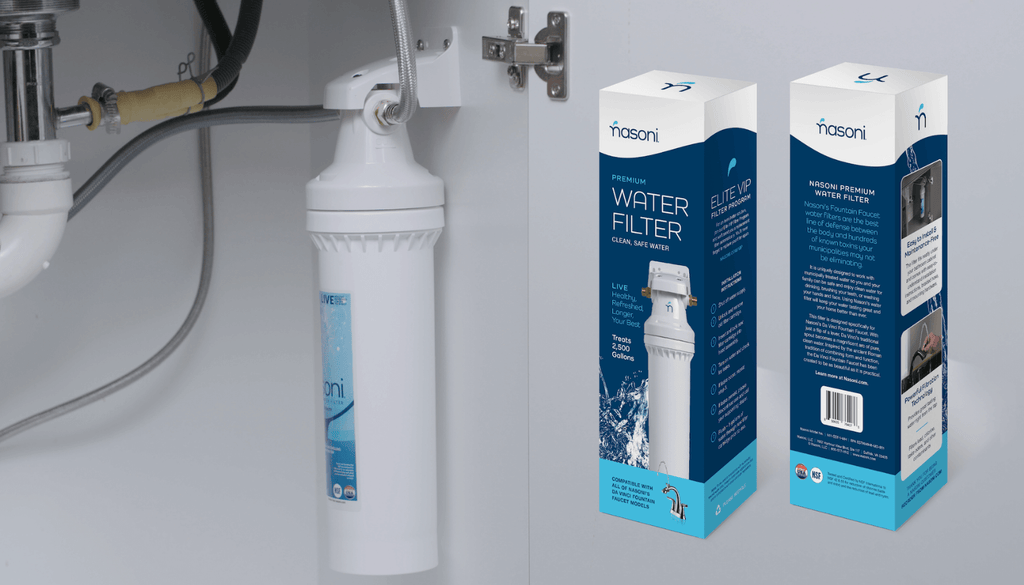 Nasoni's High-Quality, Under Sink Bathroom Water Filter removes lead