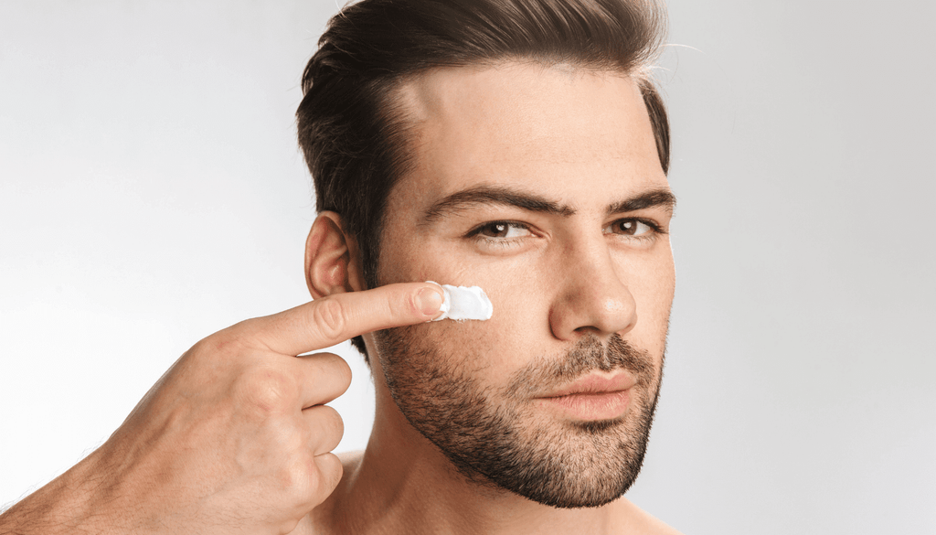 Daily skin care routine for men