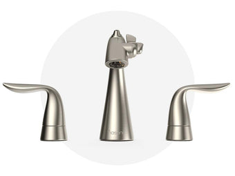 8 inch Widespread Fountain Faucet Satin Nickel