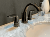 "8"" Widespread Fountain Faucet Gloss Black Nickel"