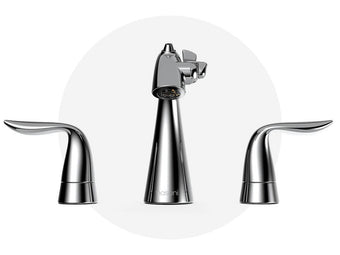 Widespread Fountain Faucet Polished Chrome