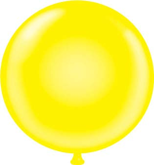 60 inch Yellow Giant Latex Balloon - Qty 2