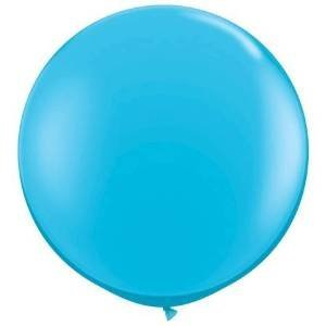 36 Inch Giant Round Turquoise Latex Balloons by TUFTEX (Premium Helium Quality) Pkg/3
