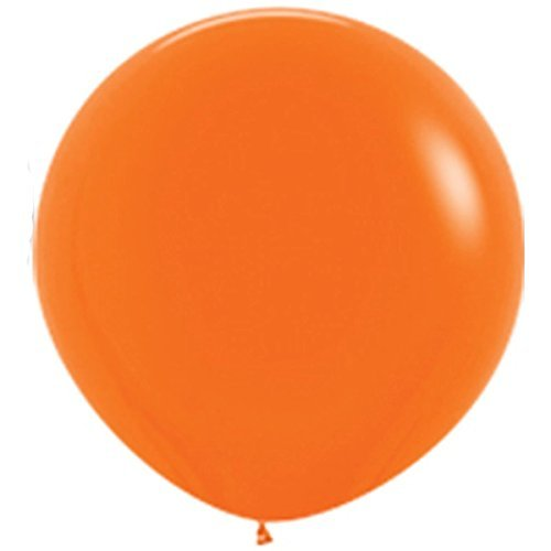 36 Inch Giant Round Orange Latex Balloons (Premium Helium Quality) Pkg/10 by TUFTEX