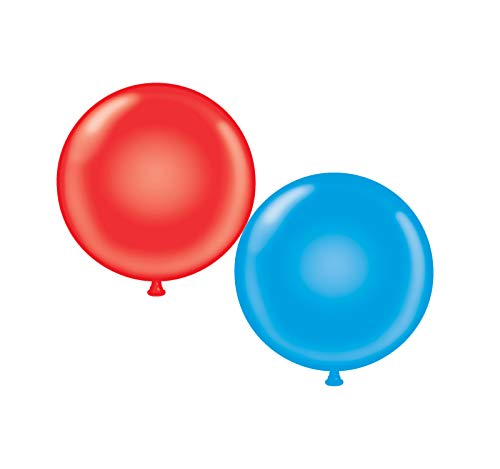 60 inch Giant Latex Balloons - Qty 2- (1) Red (1) Blue